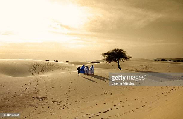 Tuareg family on their way to festival au desert