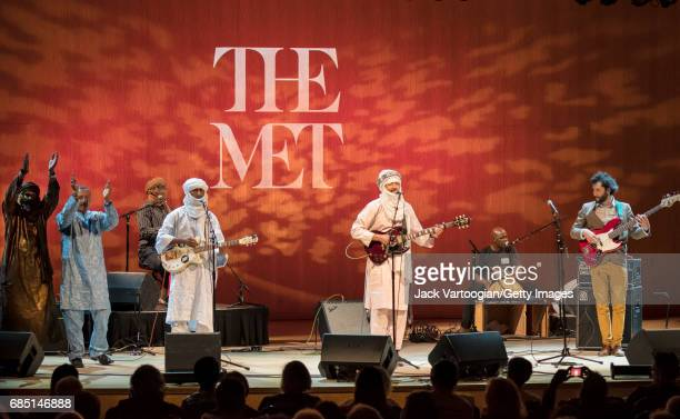 Tuareg Rock group Terakaft perform onstage during the Metropolitan Museum of Art/World Music Institute's 'Festival au Desert Caravan of Peace'...