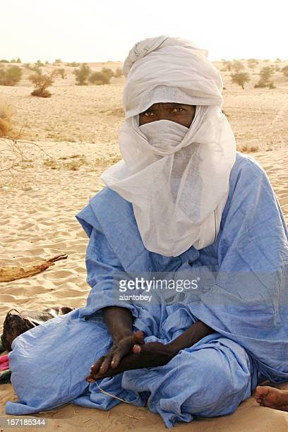 tuareg trader, timbuktu, mali, west africa - tuareg tribe stock pictures, royalty-free photos & images