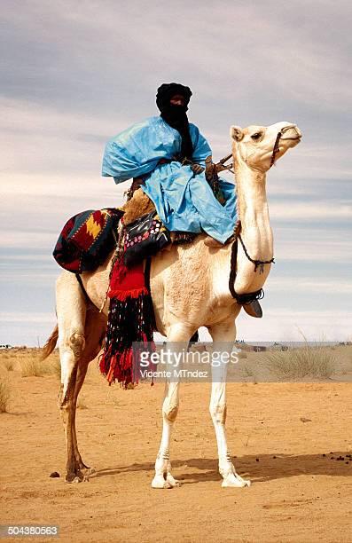 Tuaregs at the Essouk Festival - Tuareg camel riding his