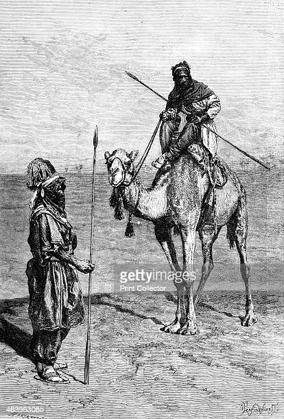 Tuaregs on a journey, North Africa, 1895. From The Universal Geography with Illustrations and Maps, division XXII, written by Elisee Reclus and...