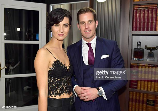Tuba Buyukustun and Christoph GraingerHerr visit the IWC booth during the launch of the Da Vinci Novelties from the Swiss luxury watch manufacturer...