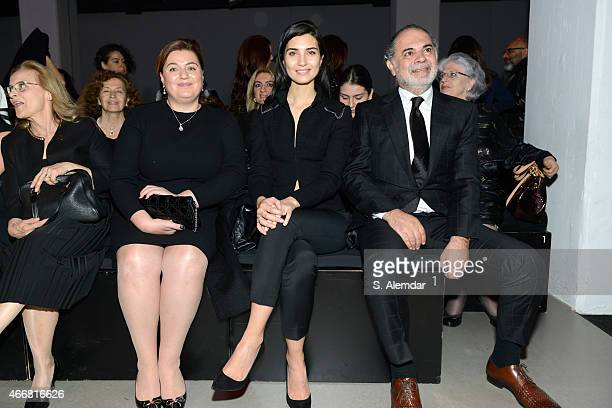 Tuba Buyukustun and guests attend the Rashid by Rasit Bagzibagli show during Mercedes Benz Fashion Week Istanbul FW15 on March 19 2015 in Istanbul...