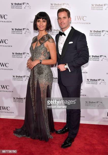 Tuba Buyukustun and IWC Schaffhausen CEO Christoph GraingerHerr attend the IWC Filmmakers Award on day two of the 14th annual Dubai International...