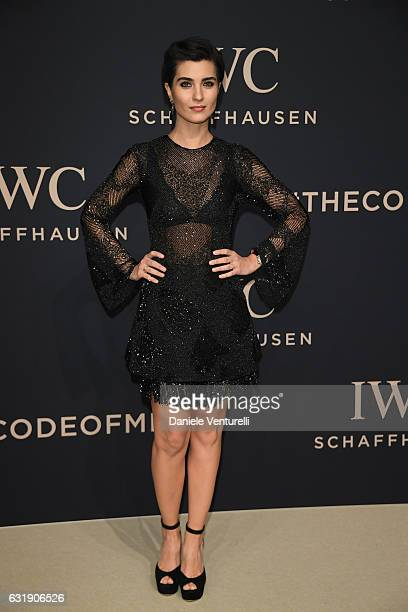 Tuba Buyukustun arrives at IWC Schaffhausen at SIHH 2017 'Decoding the Beauty of Time' Gala Dinner on January 17 2017 in Geneva Switzerland