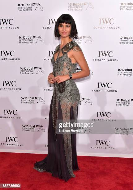 Tuba Buyukustun attends the IWC Filmmakers Award on day two of the 14th annual Dubai International Film Festival held at the One and Only Hotel on...