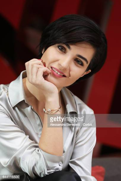Tuba Buyukustun attends the Photocall of movie Rosso Istanbul on February 23 2017 in Rome Italy