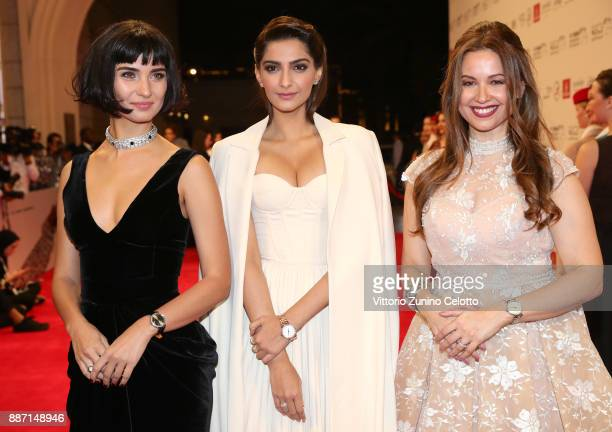 Tuba Buyukustun Sonam Kapoor and Raya Abirached attend the Opening Night Gala of the 14th annual Dubai International Film Festival held at the...