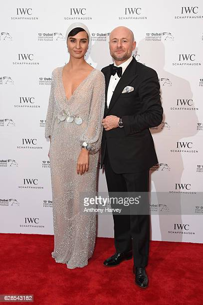 Tuba Buyukustun Turkish actress and IWC Brand Ambassador and Georges Kern CEO IWC Schaffhausen attend the fifth IWC Filmmaker Award gala dinner at...