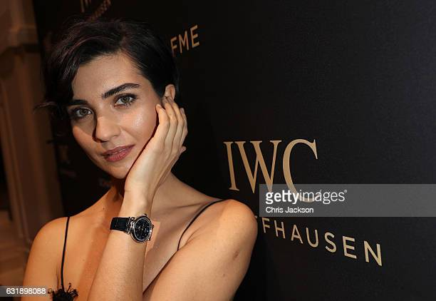 Tuba Buyukustun visits the IWC booth during the launch of the Da Vinci Novelties from the Swiss luxury watch manufacturer IWC Schaffhausen at the...