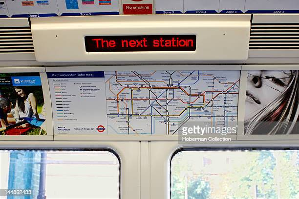 Tube Carriage with Underground Map