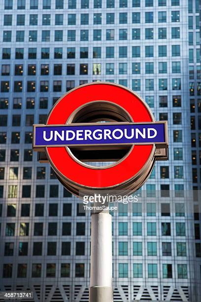 tube sign - underground sign stock pictures, royalty-free photos & images