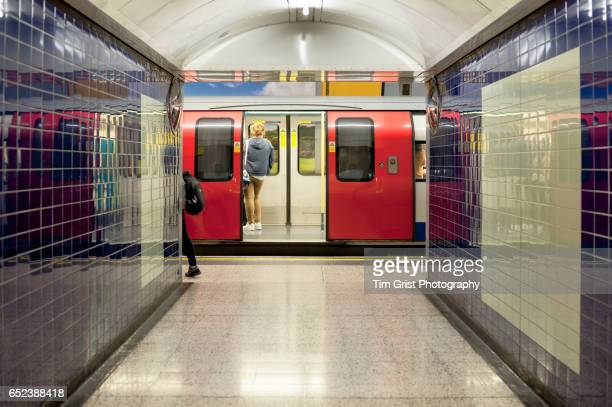 Tube Train at a Station, London