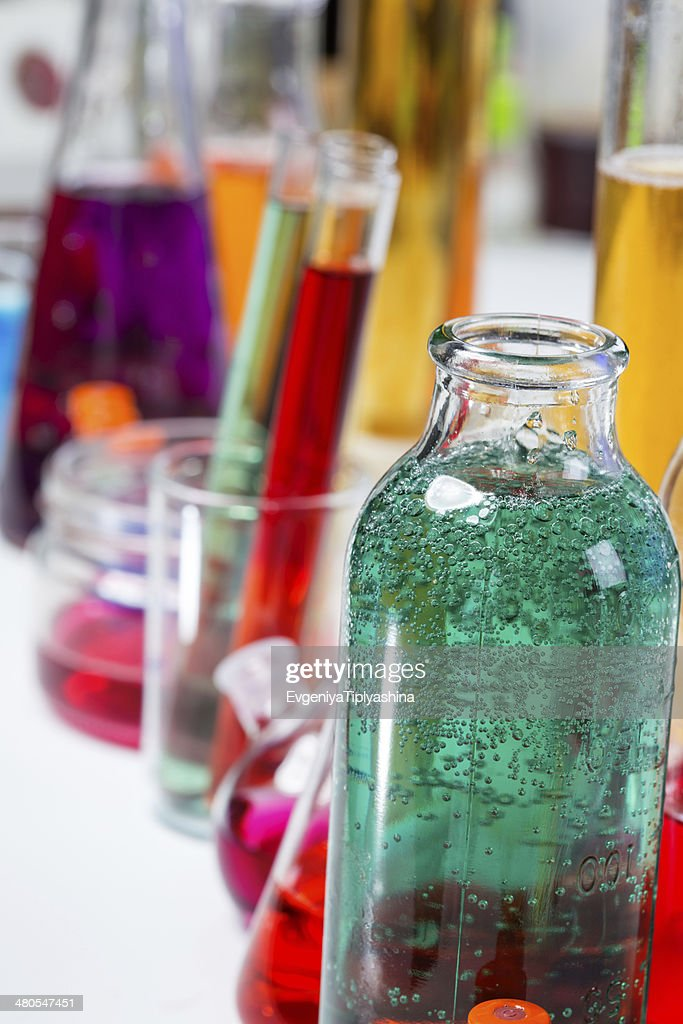 tubes in the laboratory : Stock Photo