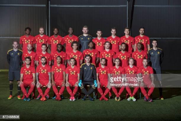 20171107 Tubize Belgium / Photoshoot Belgian Red Devils / 'n'nBack row Dedryck BOYATA Laurent DEPOITRE Divock ORIGI Romelu LUKAKU Simon MIGNOLET...