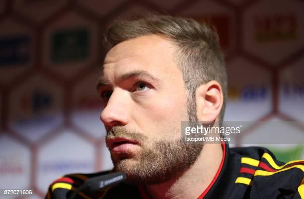 20171107 Tubize Belgium / Training Red Devils /'nPress conference Laurent DEPOITRE'nPicture Vincent Van Doornick / Isosport