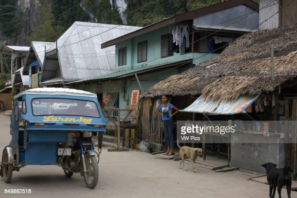 Tuc tuc Streets of the village El Nido Philippines