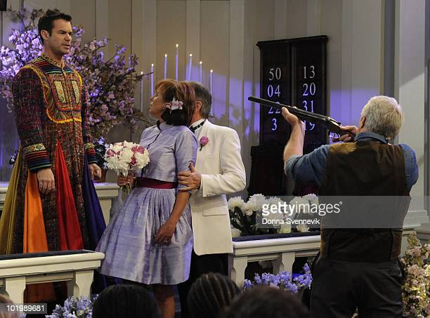 LIVE Tuc Watkins Hillary B Smith Robert S Woods and Jerry verDorn in a scene that begins airing the week of May 31 2010 on Walt Disney Television via...