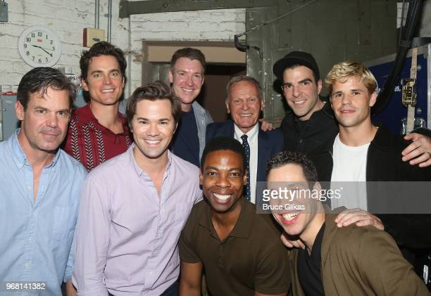 Tuc Watkins Matt Bomer Andrew Rannells Brian Hutchison Michael Benjamin Washington Tab Hunter Robin de Jesus Zachary Quinto and Charlie Carver pose...