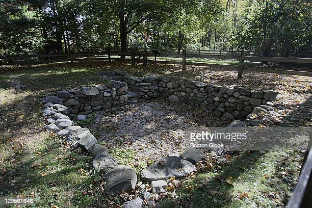 Tucked behind suburban houses is the original stone foundation of the Salem Village parsonage where he frenzy that fueled the witch trials began...