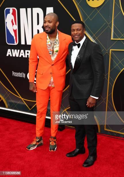 P J Tucker and Chris Tucker attend the 2019 NBA Awards presented by Kia on TNT at Barker Hangar on June 24 2019 in Santa Monica California