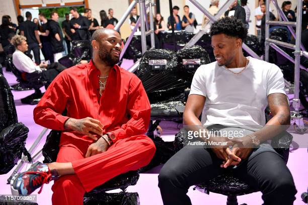 Tucker and Rudy Gay attend the Raf Simons Menswear Spring Summer 2020 show as part of Paris Fashion Week on June 19, 2019 in Paris, France.