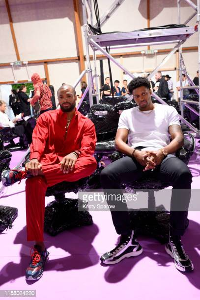 Tucker and Rudy Gay attends the Raf Simons Menswear Spring Summer 2020 show as part of Paris Fashion Week on June 19, 2019 in Paris, France.