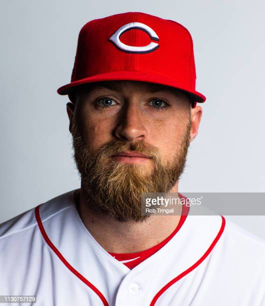 Tucker Barnhart of the Cincinnati Reds poses for a portrait at the Cincinnati Reds Player Development Complex on February 19 2019 in Goodyear Arizona