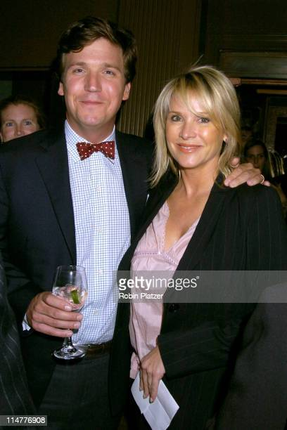 Tucker Carlson and Patricia Duff during The 2005 Do Something BRICK Awards - Inside Arrivals at Capitale in New York City, New York, United States.