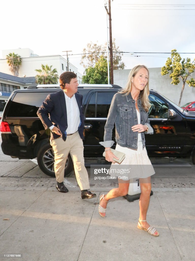 Tucker Carlson and Susan Andrews are seen on April 16 ...