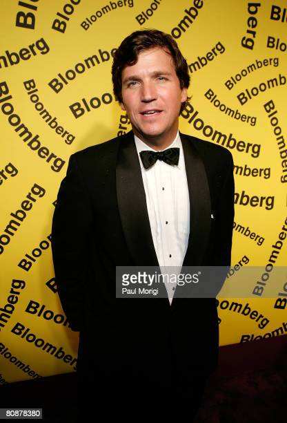 Tucker Carlson arrives for an afterparty hosted by Bloomberg following the White House Correspondents' Association Dinner on April 26 2008 in...