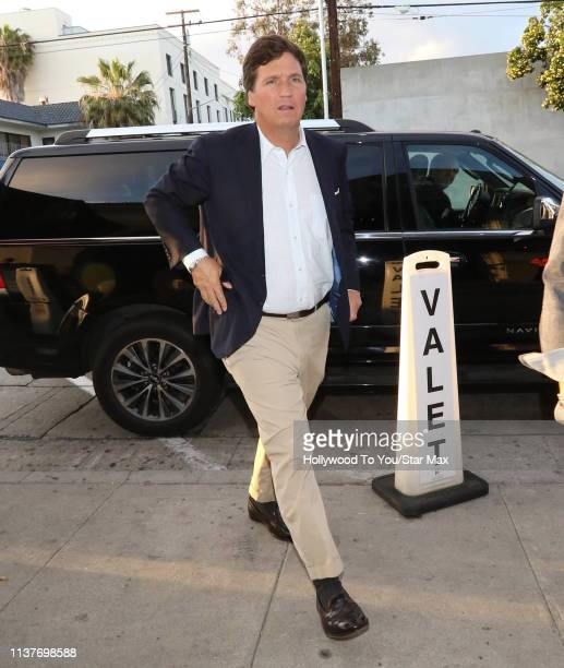 Tucker Carlson is seen on April 16, 2019 in Los Angeles, California.
