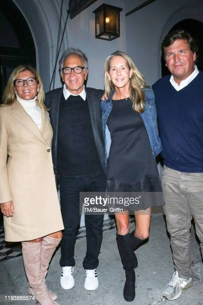 Tucker Carlson, Susan Andrews, James Randall and Eleanor Randall are seen on January 14, 2020 in Los Angeles, California.