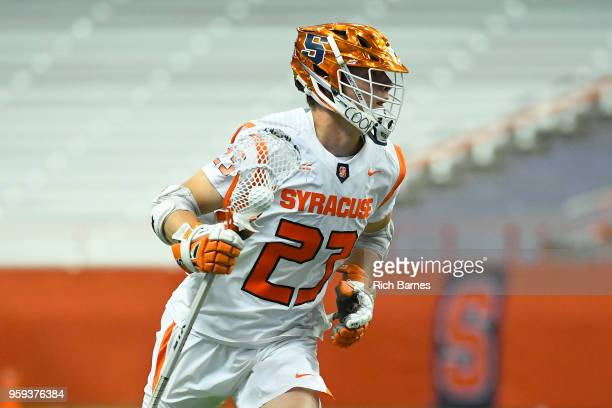 Tucker Dordevic of the Syracuse Orange controls the ball against the Cornell Big Red during a 2018 NCAA Division I Men's Lacrosse Championship First...