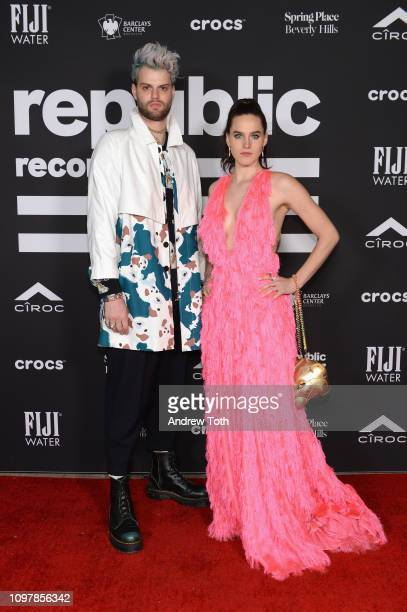 Tucker Halpern and Sophie HawleyWeld attend Republic Records Grammy after party at Spring Place Beverly Hills on February 10 2019 in Beverly Hills...