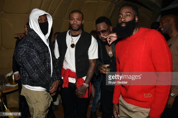 Tucker James Harden and guests attend the GQ March Cover Party at The Standard Highline on March 01 2020 in New York City