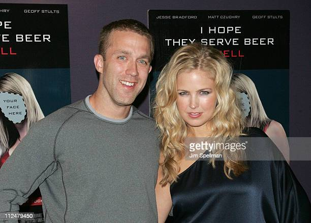 """Tucker Max and Actress Keri Lynn Pratt attend the premiere of """"I Hope They Serve Beer In Hell"""" at the AMC Empire 25 on September 3, 2009 in New York..."""