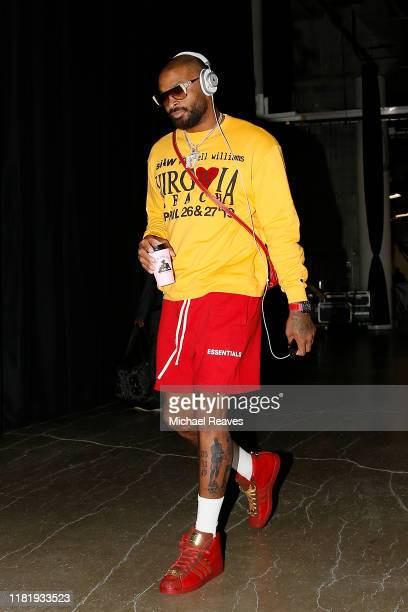Tucker of the Houston Rockets arrives at American Airlines Arena prior to the game between the Miami Heat and the Houston Rockets on October 18 2019...