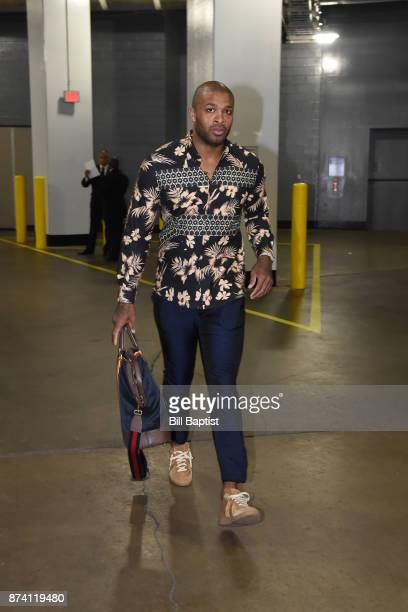 Tucker of the Houston Rockets arrives at the arena before the game against the Cleveland Cavaliers on NOVEMBER 9 2017 at the Toyota Center in Houston...