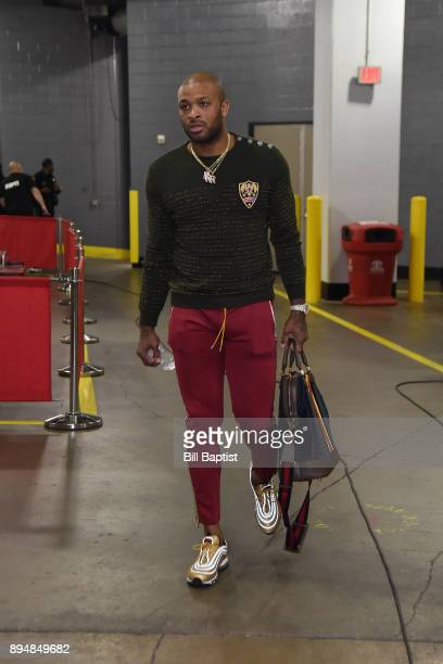 Tucker of the Houston Rockets arrives at the arena before the game against the San Antonio Spurs on December 15 2017 at the Toyota Center in Houston...