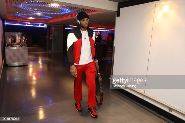 Tucker of the Houston Rockets arrives at the arena before the game against the Washington Wizards on December 29 2017 at Capital One Arena in...