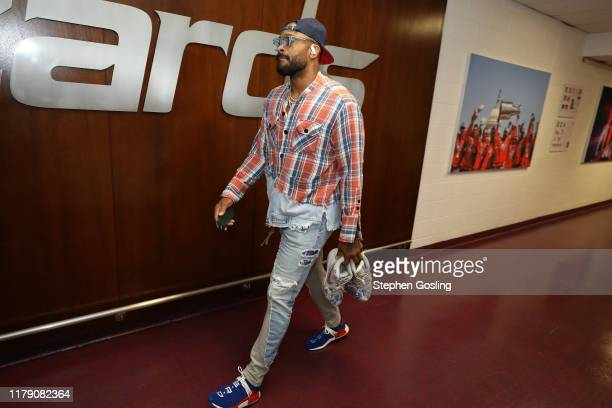 Tucker of the Houston Rockets arrives before game against the Washington Wizards on October 30 2019 at Capital One Arena in Washington DC NOTE TO...