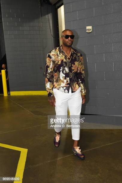 Tucker of the Houston Rockets arrives before Game Two of the Western Conference Finals against the Golden State Warriors during the 2018 NBA Playoffs...