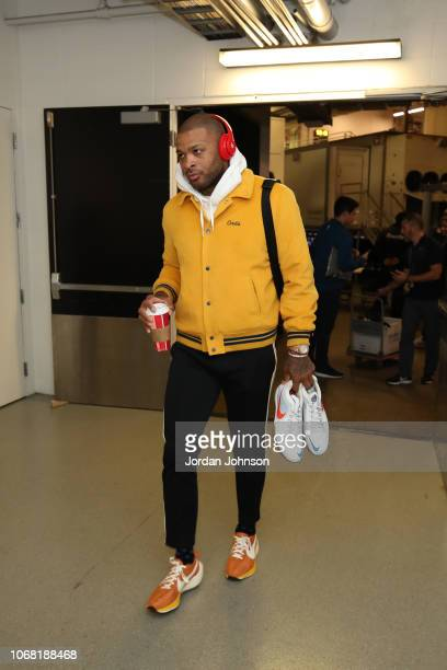 Tucker of the Houston Rockets arrives prior to a game against the Minnesota Timberwolves on December 3 2017 at Target Center in Minneapolis Minnesota...