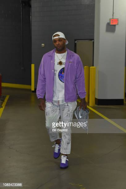 Tucker of the Houston Rockets arrives prior to a game against the Brooklyn Nets on January 16 2019 at the Toyota Center in Houston Texas NOTE TO USER...