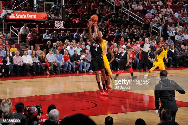 Tucker of the Houston Rockets goes for the rebound against the Indiana Pacers on November 29 2017 at the Toyota Center in Houston Texas NOTE TO USER...