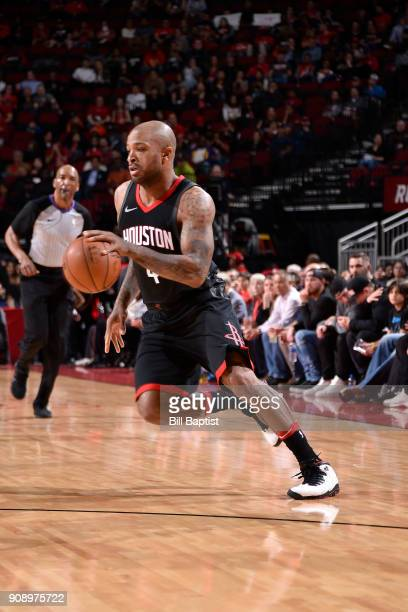 Tucker of the Houston Rockets handles the ball against the Miami Heat on January 22 2018 at the Toyota Center in Houston Texas NOTE TO USER User...