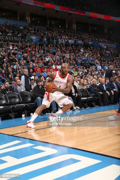 Tucker of the Houston Rockets handles the ball against the Oklahoma City Thunder on March 6 2018 at Chesapeake Energy Arena in Oklahoma City Oklahoma...