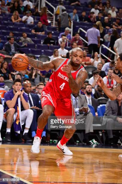 Tucker of the Houston Rockets handles the ball against the Phoenix Suns on November 16 2017 at Talking Stick Resort Arena in Phoenix Arizona NOTE TO...