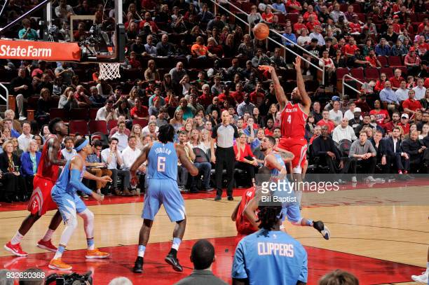 Tucker of the Houston Rockets shoots the ball against the LA Clippers on March 15 2018 at the Toyota Center in Houston Texas NOTE TO USER User...